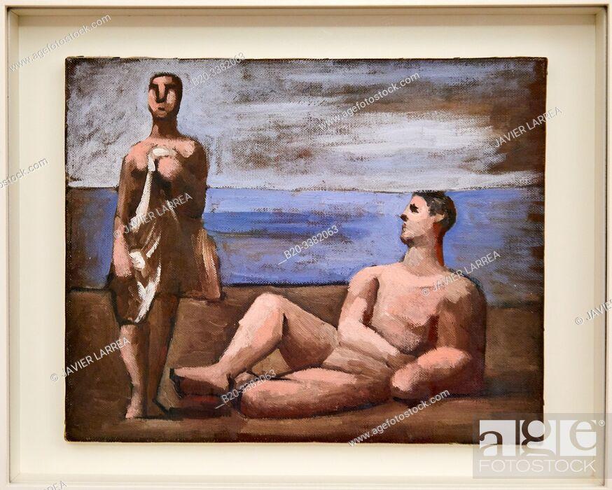 """Stock Photo: """"Deux Baigneurs"""", 1921, Pablo Picasso, Picasso Museum, Paris, France, Europe."""