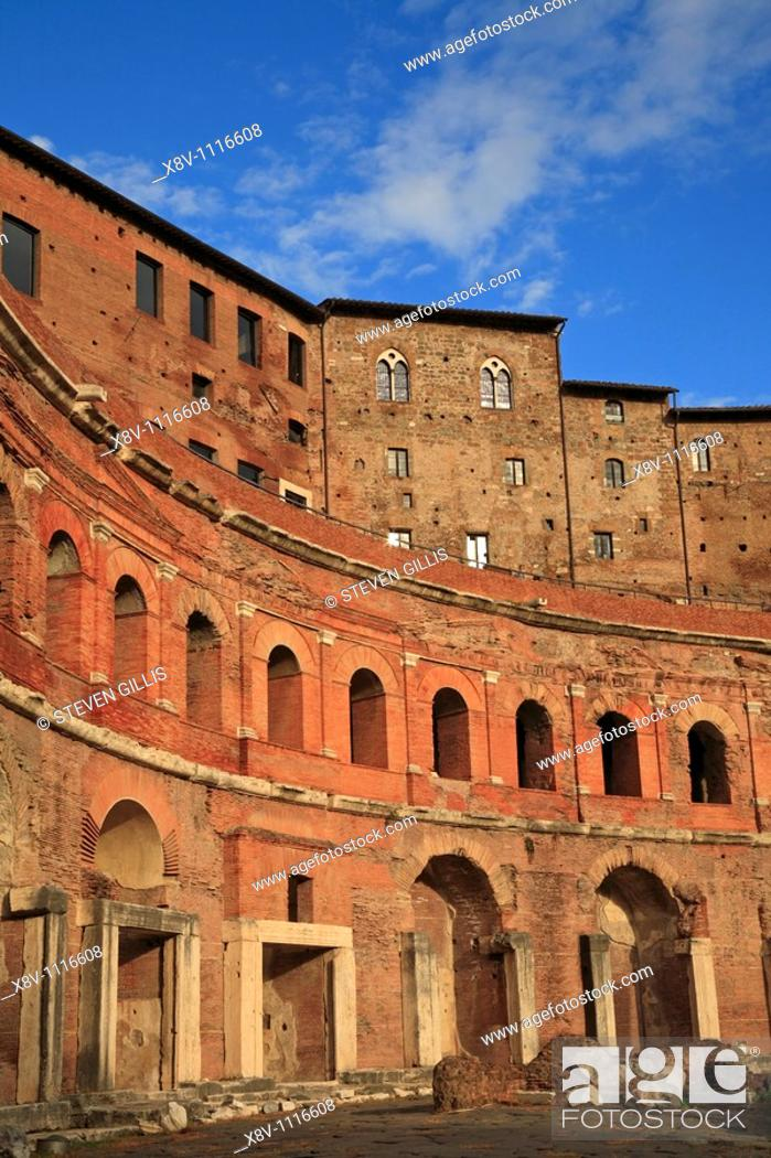 Stock Photo: The Trajan's Markets, Rome, Italy, Europe.