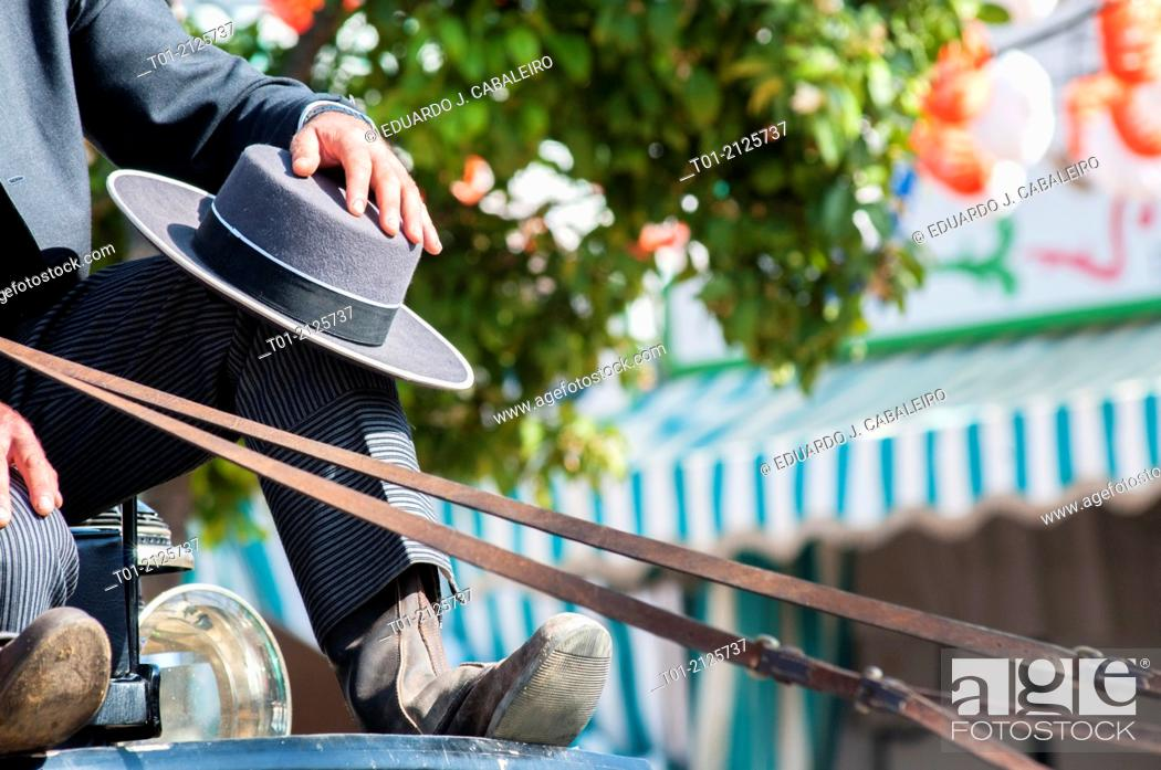 Stock Photo: typical cordovan hatof the April Fair of Seville.