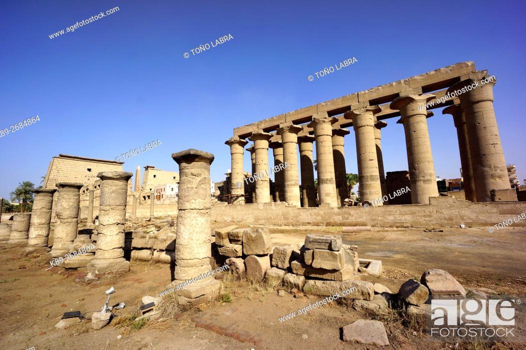 Stock Photo: Luxor Temple. Luxor. Upper Egypt.