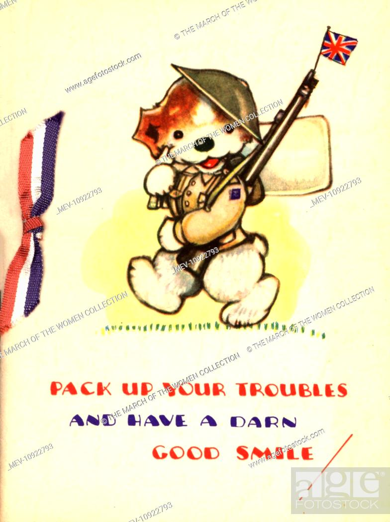 Ww2 Birthday Card Dog As Soldier Pack Up Your Troubles And Have A