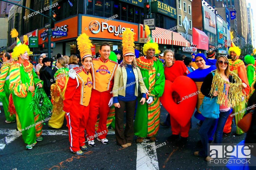 Stock Photo: USA, New York City, Thanksgiving Parade.