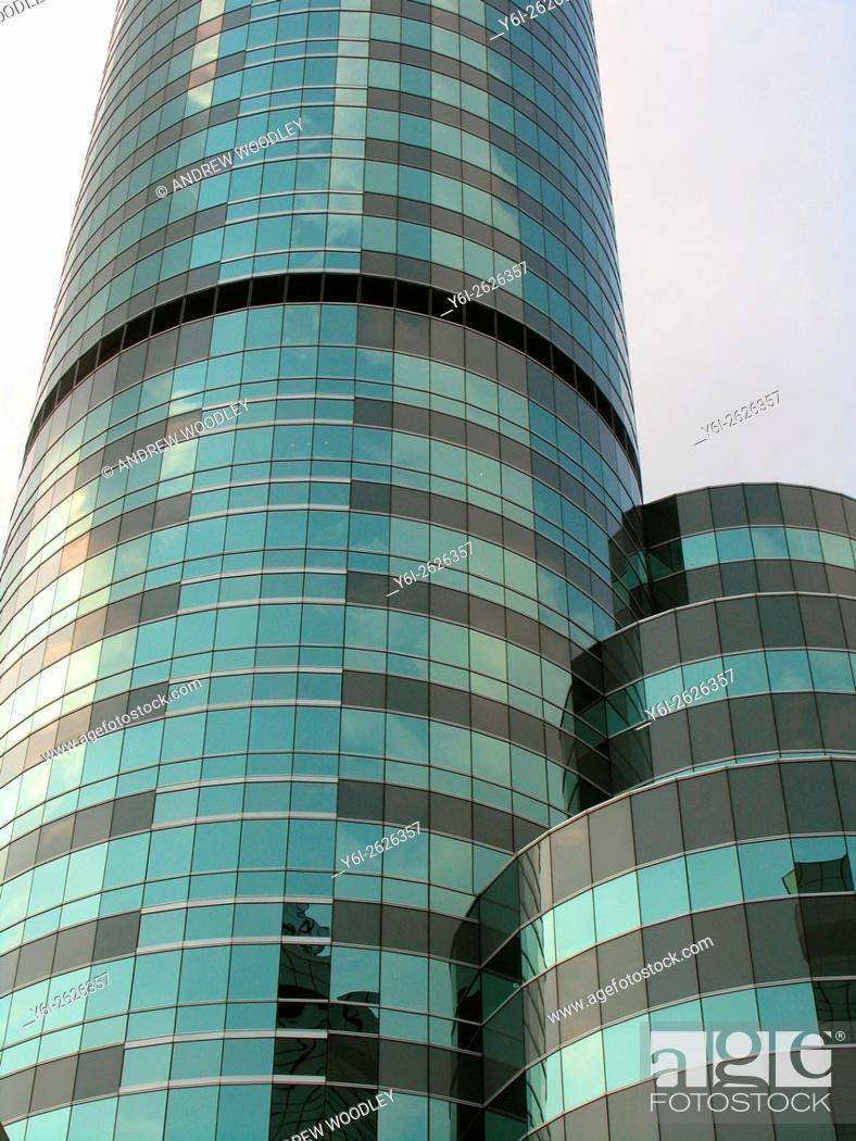 Stock Photo: Tower blocks of the Intercontinental Hotel Bangkok Thailand.