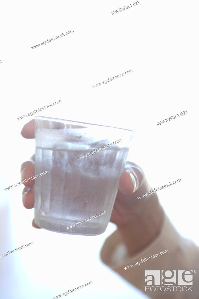 Stock Photo: Glass of water, close-up.