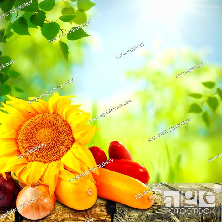 Stock Photo: Fresh tasty vegetable with abstract natural backgrounds as nutrition still life.