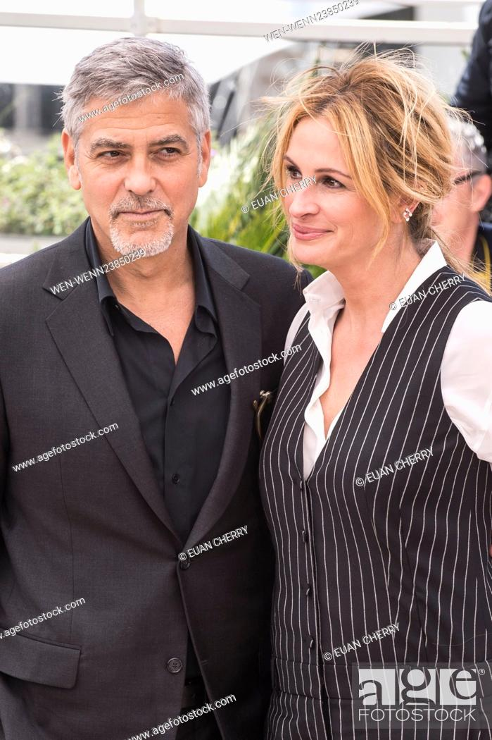 Stock Photo: 69th Cannes Film Festival - 'Money Monster' - Photocall Featuring: George Clooney, Julia Roberts Where: Cannes, France When: 12 May 2016 Credit: Euan.