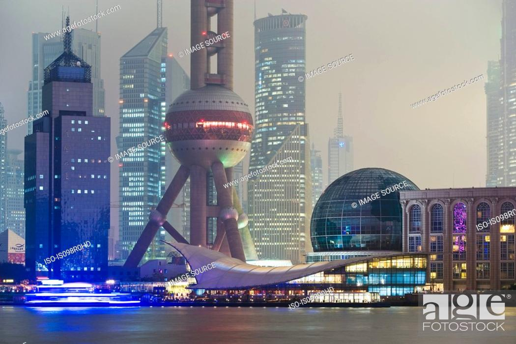 Photo de stock: Oriental pearl tower shanghai.