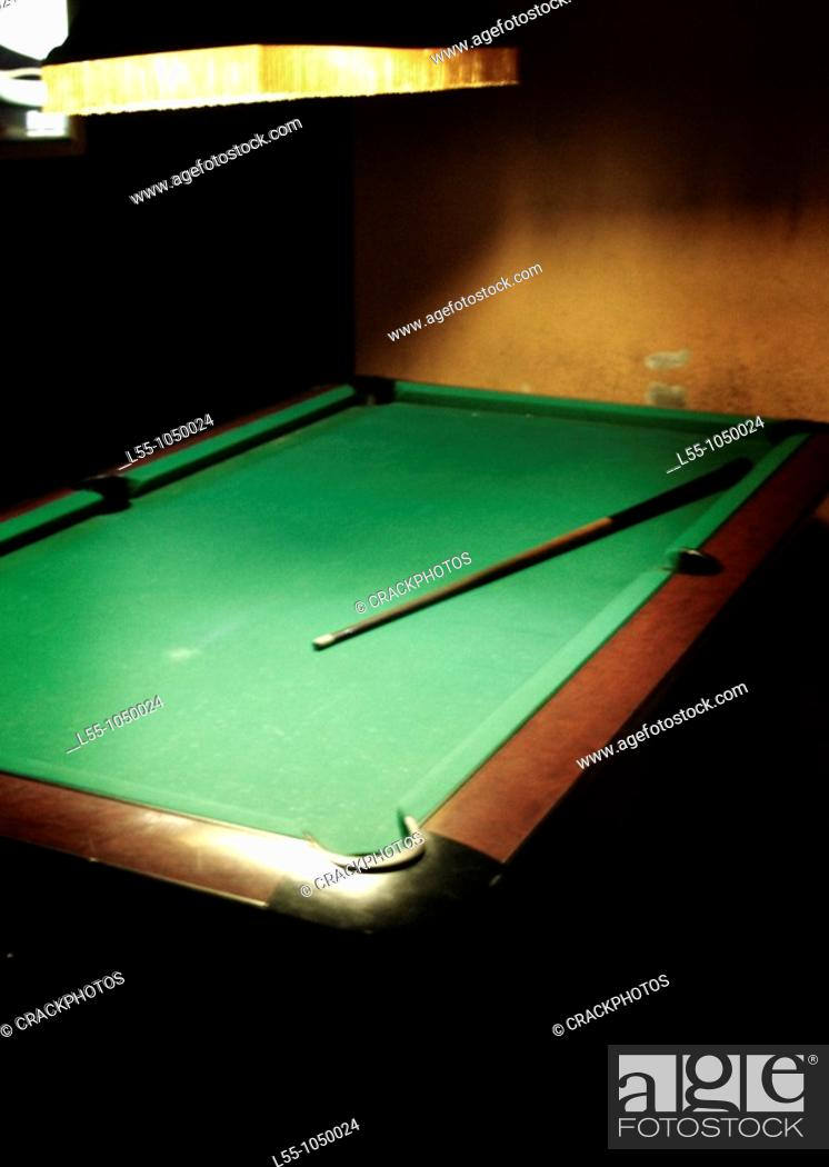 Stock Photo: Pool table.