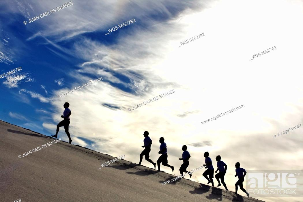 Stock Photo: sand sports.