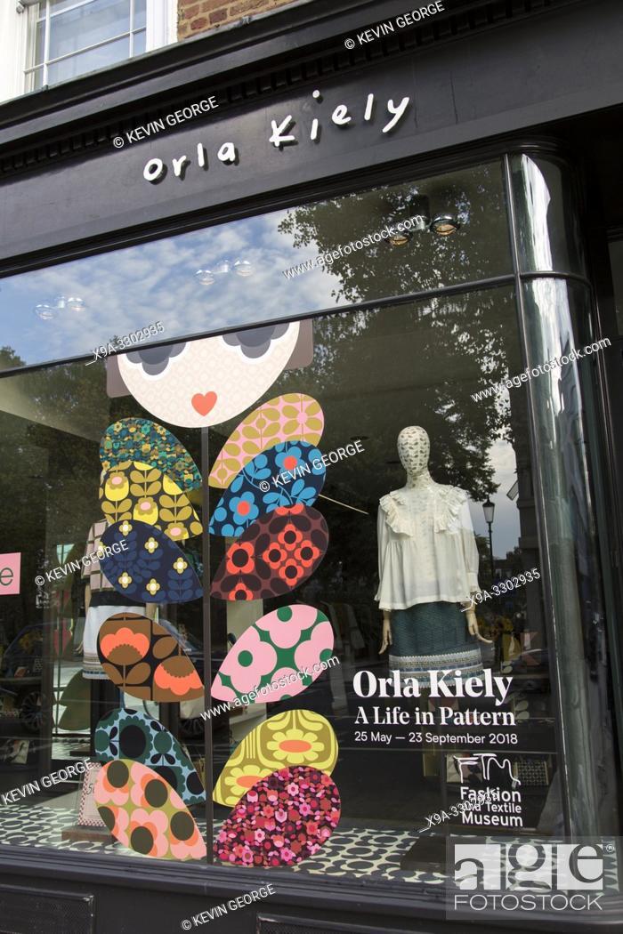 Stock Photo: Orla Kiely Clothes Shop, Kings Road, Chelsea, London; England; UK;.