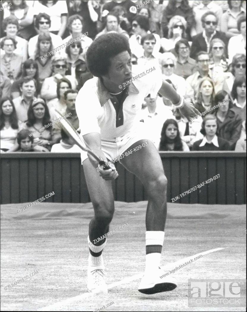 Jul  07, 1979 - ARTHUR ASHE (USA) IS THE NEW WIMBLEDON
