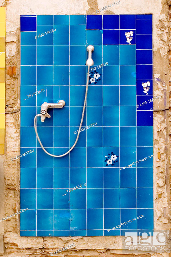 Stock Photo: Shower in dilapidated building.
