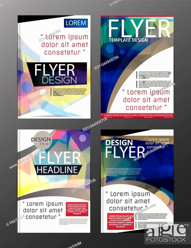 Stock Vector: Polygon Modern Brochure Vector CMYK Modern A4.