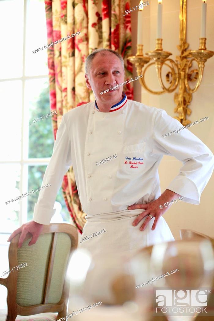 Chef Eric Frenchon in his 3 Michelin star gastronomic