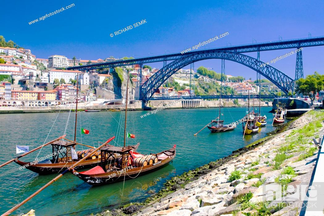 Stock Photo: Dom Luis I Bridge, Porto, Douro Province, Portugal.