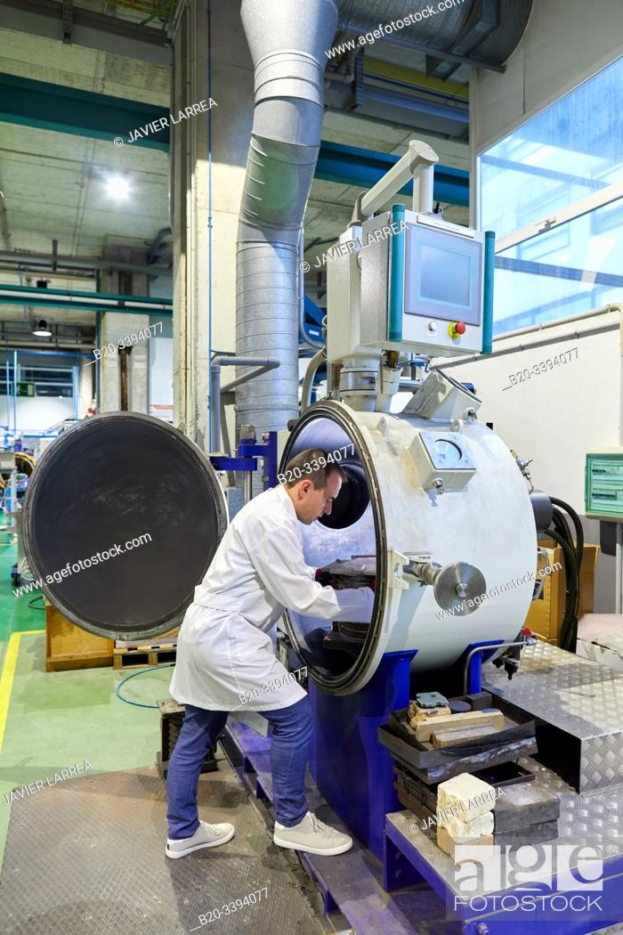 Stock Photo: Melting and vacuum casting furnace, Consarc vacuum oven, Foundry industry, Industry Unit, Technology Centre, Tecnalia Research & Innovation, Donostia.