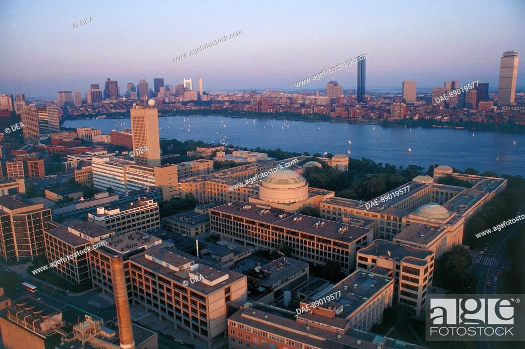 Aerial View Of Massachusetts Institute Of Technology Mit Stock
