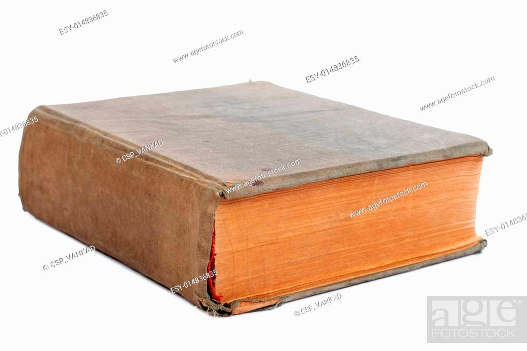 Photo de stock: Old book on a white background.