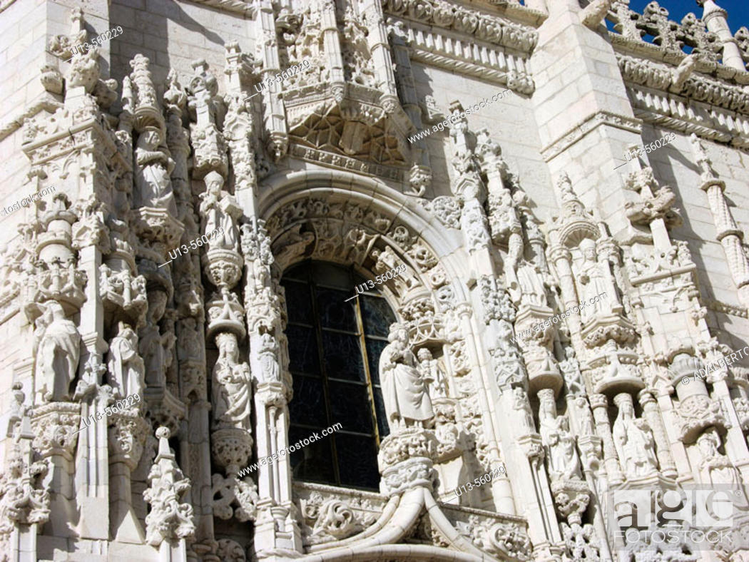 Stock Photo: South façade, Monastery of the Hieronymites. Lisbon. Portugal.