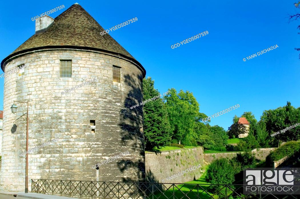 Stock Photo: Old Ramparts,Besancon, Doubs,Franche-Comte, France.