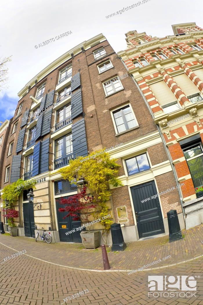 Photo de stock: Street Scene, Traditional Architecture, Holland, Netherlands, Europe.