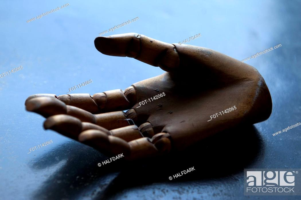 Stock Photo: A wooden hand.