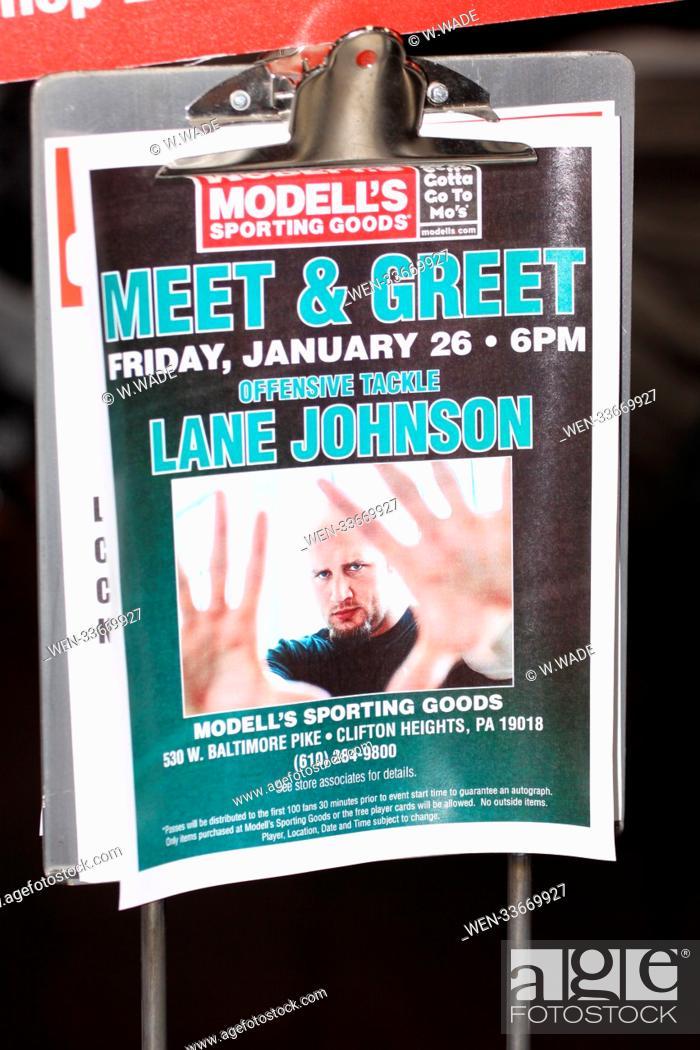 uk availability 61dc7 80c94 Philadelphia Eagles offensive lineman Lane Johnson attends a ...