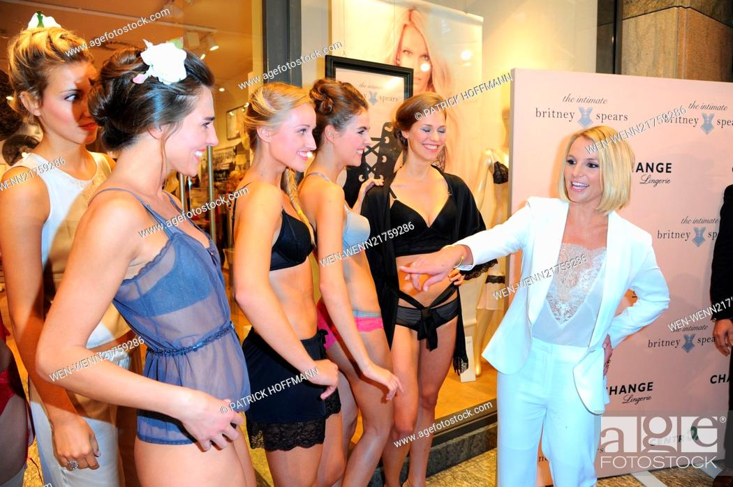 Stock Photo - Britney Spears promoting her lingerie line Intimate  Collection at CentrO Oberhausen shopping mall ... . Featuring  Britney  Spears 527abbfb580