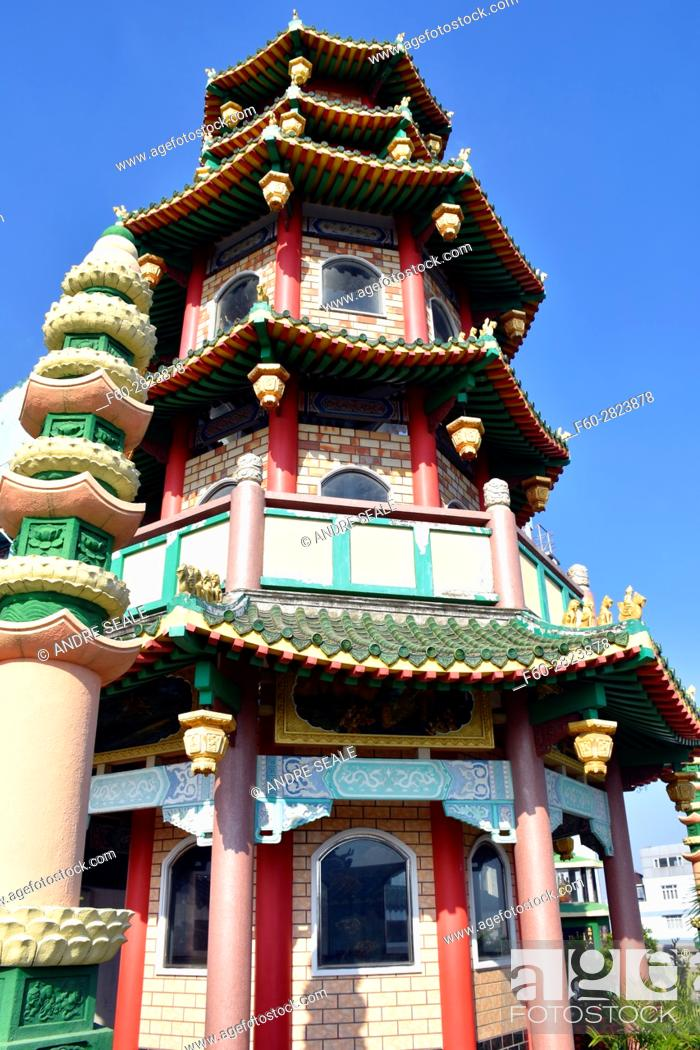 Stock Photo: Chua Van Phat Pagoda or Temple of Ten Thousand Buddhas, Chinese District, Ho Chi Minh City, Vietnam.