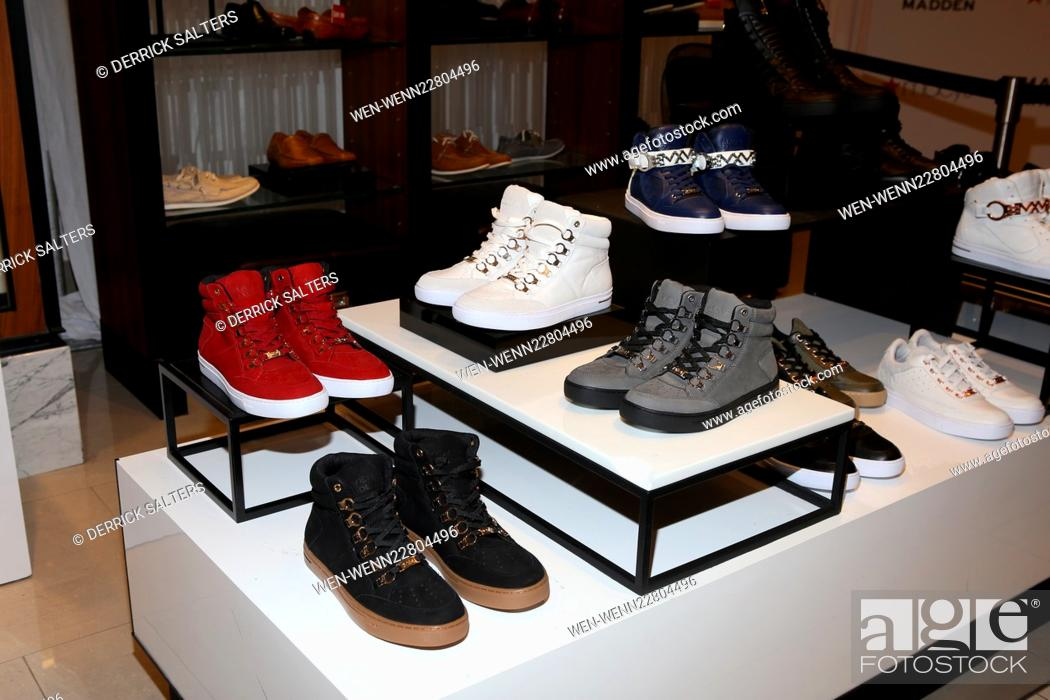 Stock Photo - Designer Steve Madden and recording artist Ja Rule launch the  release of the Maven x Madden Men s Collection held at Macy s Herald Square  ... 14561b1ca