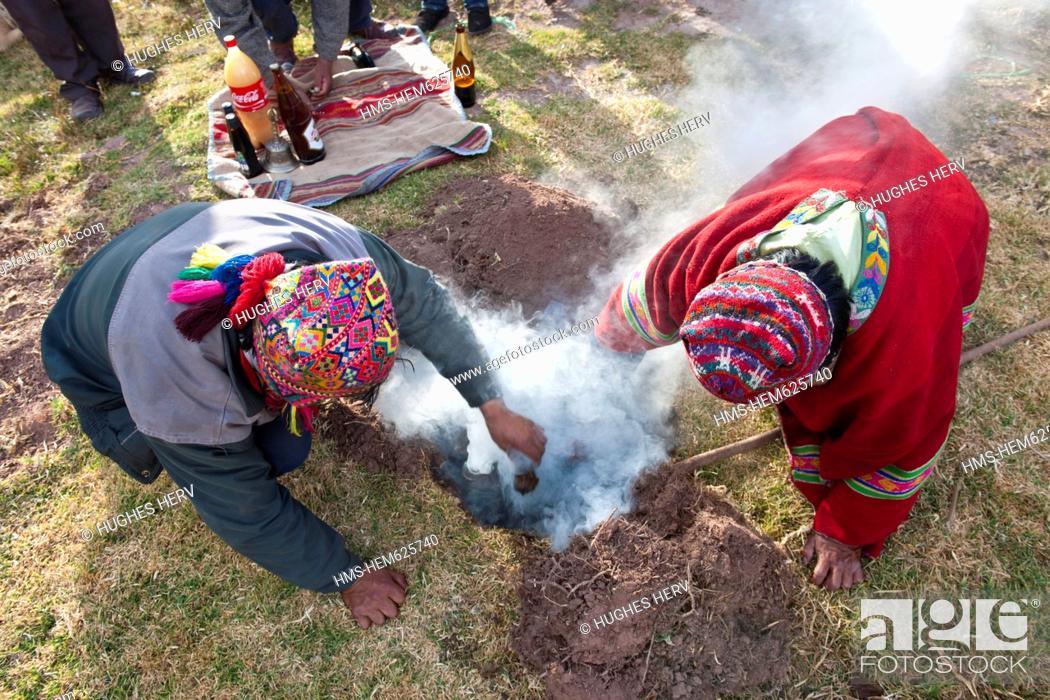 Peru, Cuzco province, Huasao, listed as mystic touristic