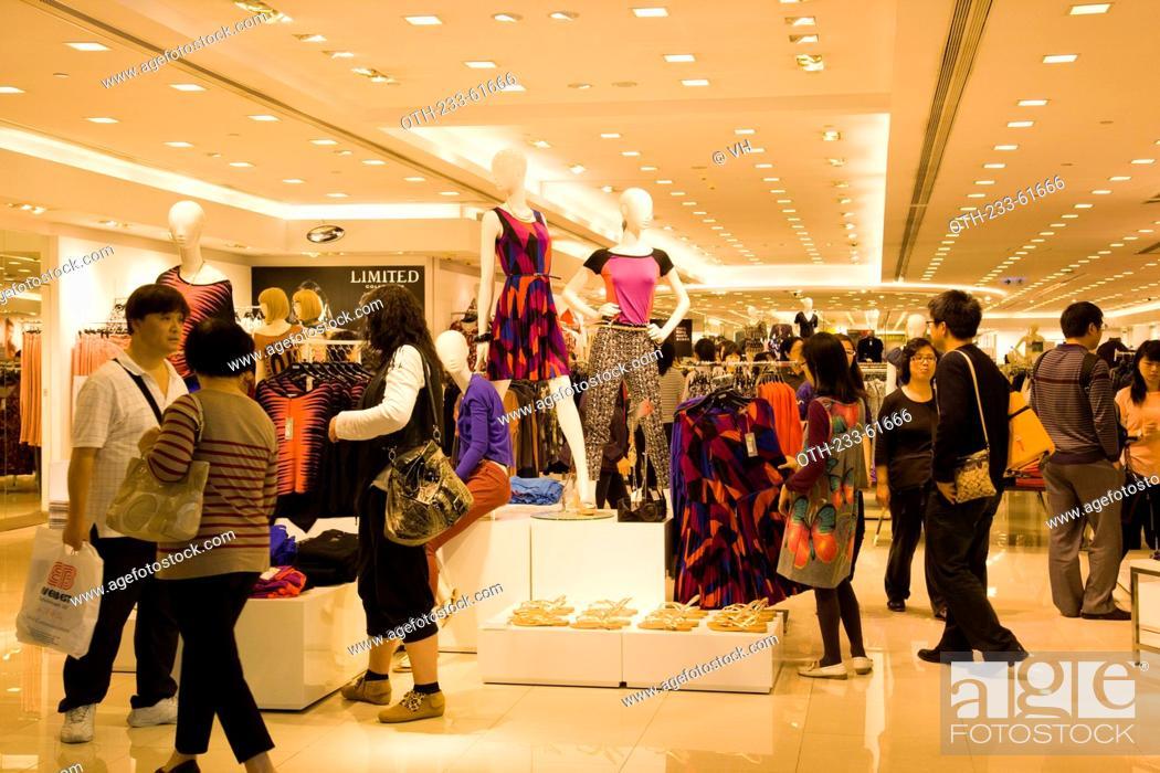 Stock Photo: A fashion boutique at New Town Plaza shopping mall, Shatin, Hong Kong.