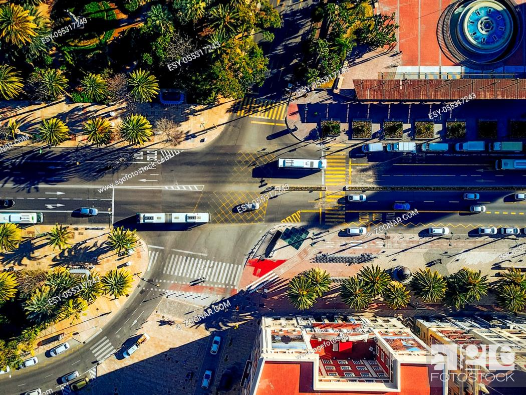 Photo de stock: Aerial city view. City street from the air.