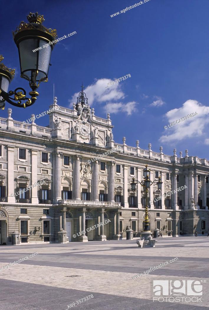 Stock Photo: The Royal Palace. . Palacio Real de Oriente. . Madrid. Spain.