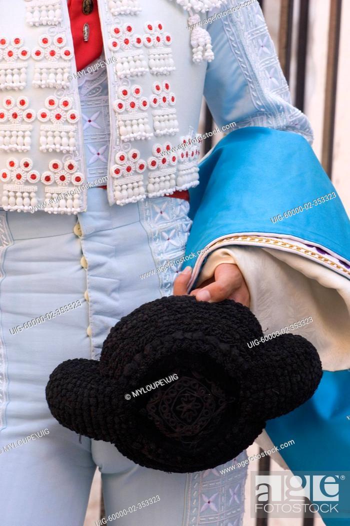 d106e701b33 Stock Photo - A MATADOR holds a traditional hat at a bull fight - SAN  MIGUEL DE ALLENDE