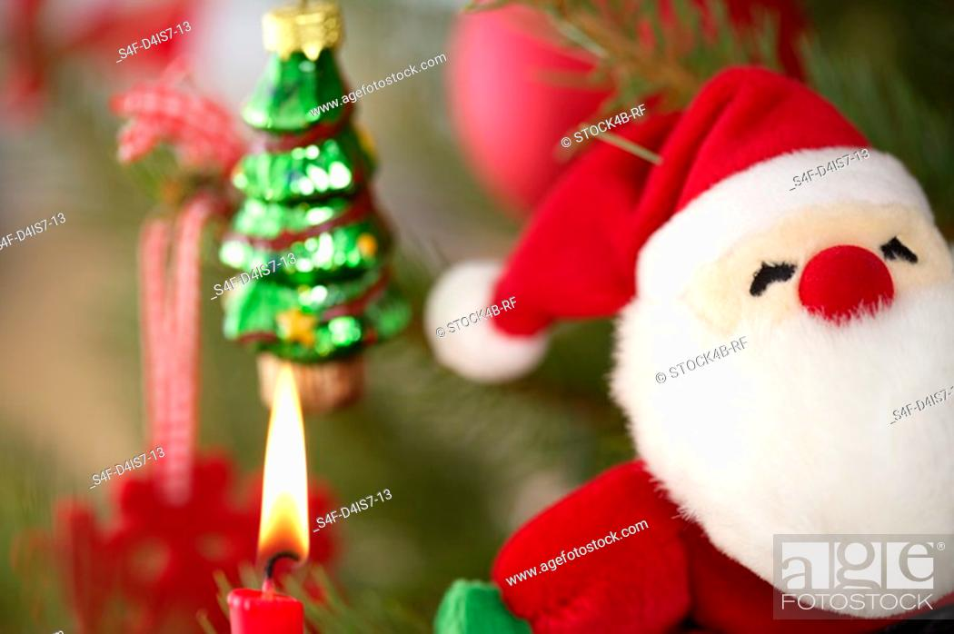 Stock Photo: Santa Claus on Christmas tree.