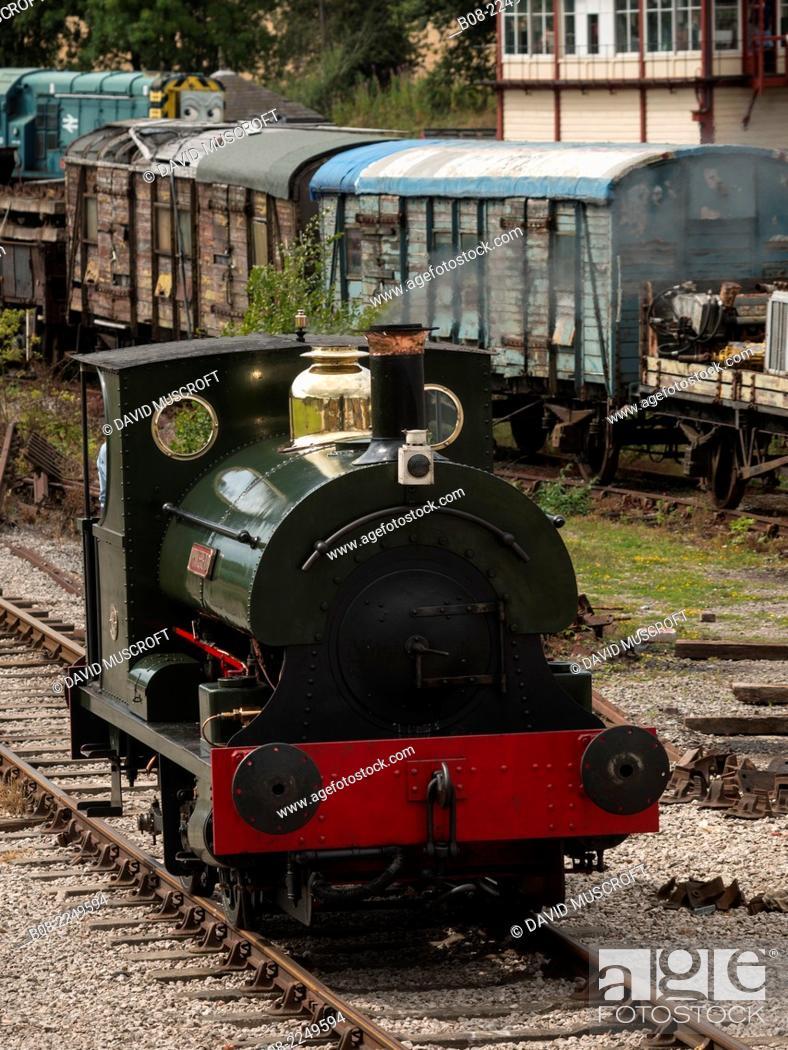 Stock Photo: Golden Valley Light Railway, near ripley, Derbyshire, UK.