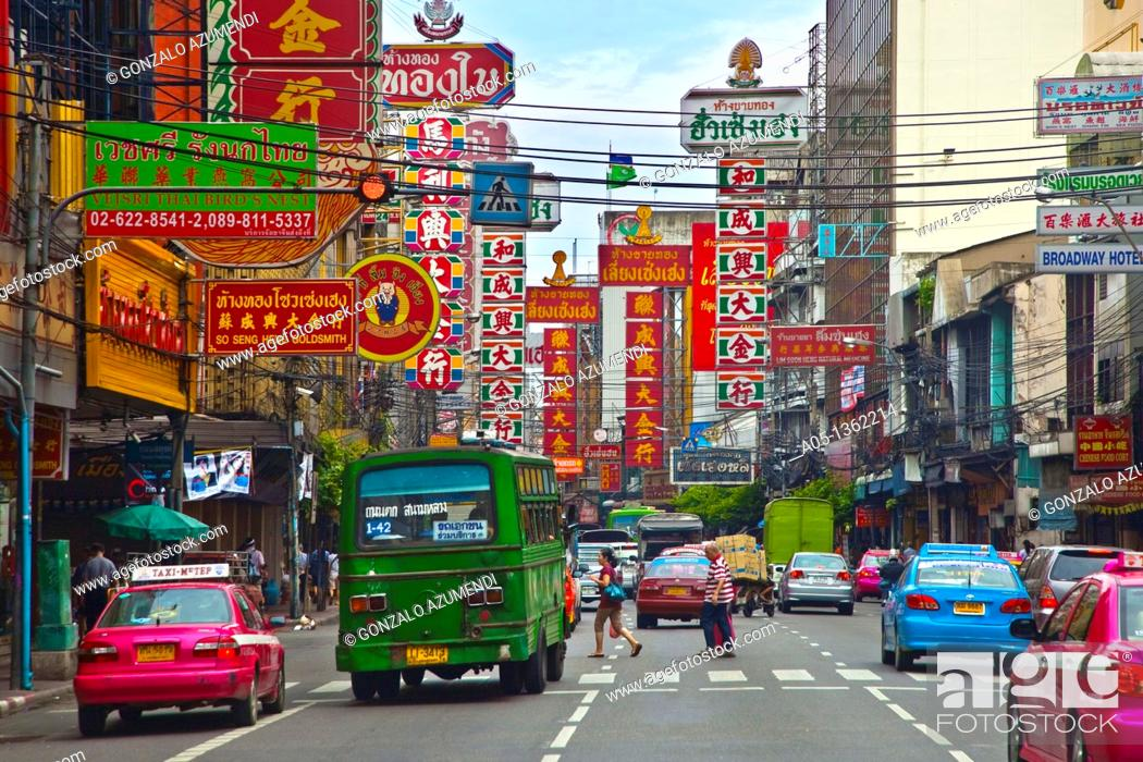 Stock Photo: Chinatown  Bangkok, Thailand, Southeast Asia, Asia.