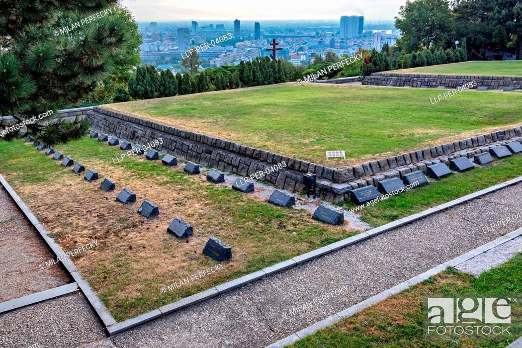Stock Photo: Slavin, War Memorial, Bratislava, Slovakia.