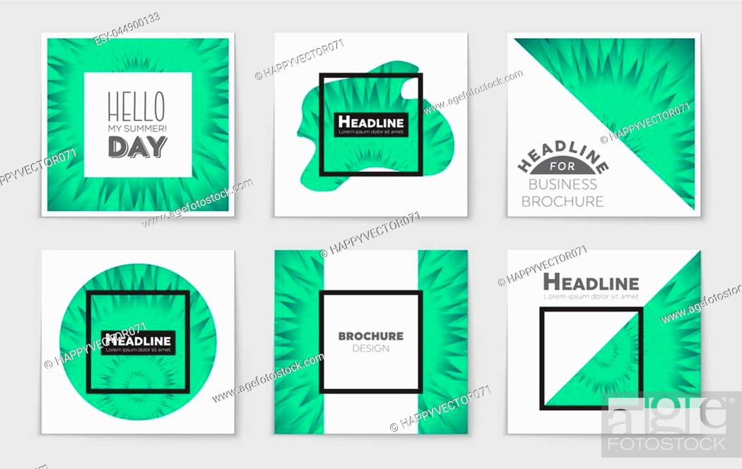 Stock Vector: Abstract vector layout background set. For art template design, list, front page, mockup brochure theme style, banner, idea, cover, booklet, print, flyer, book.