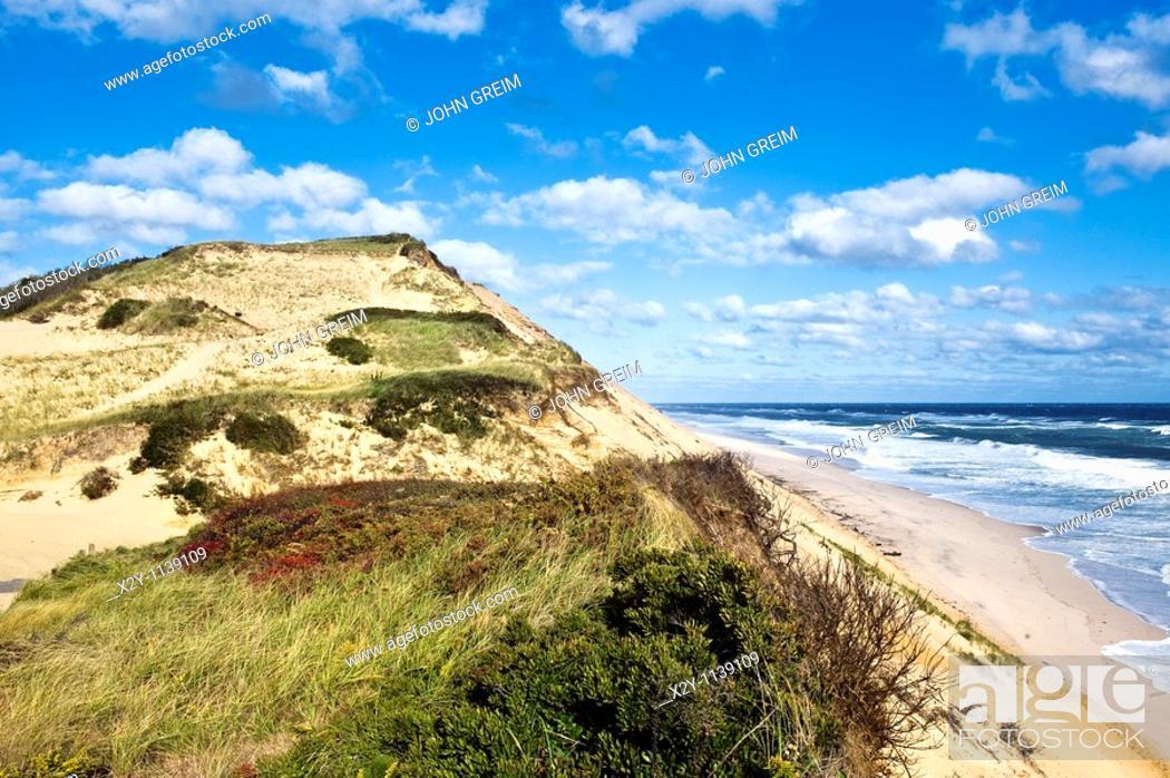 Stock Photo: Long Nook Beach, Truro, Cape Cod, MA, Massachusetts, USA.