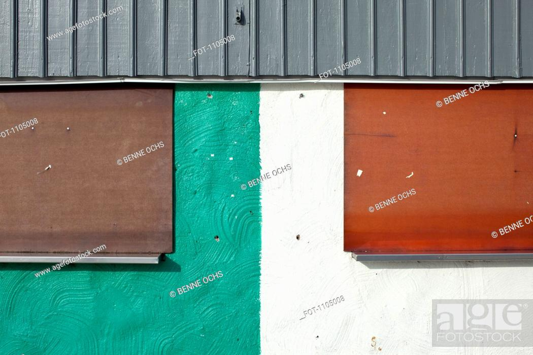 Stock Photo: Detail of the facade of a building.
