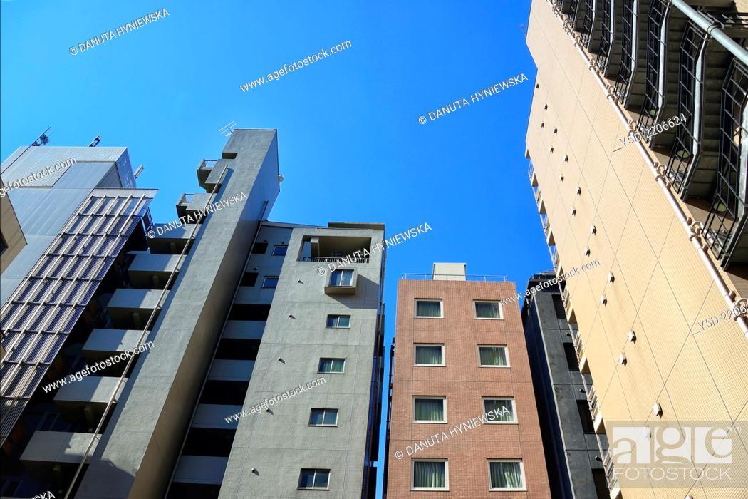 Stock Photo: Architecture of Chuo, Chuo-ku, Central Ward, Chuo City, heart of Tokyo, Japan.