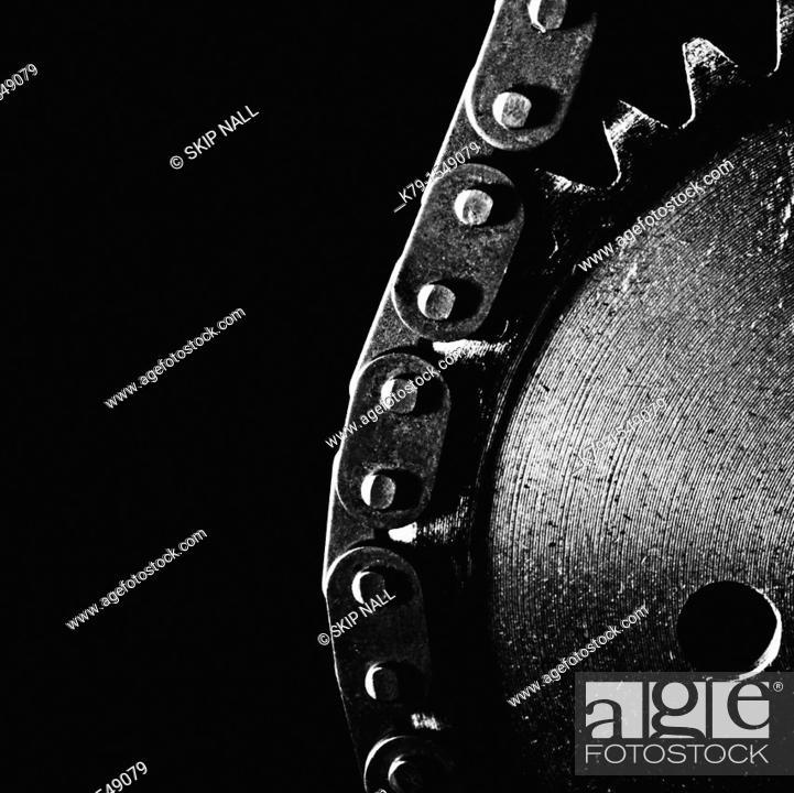 Stock Photo: Detail of gears.