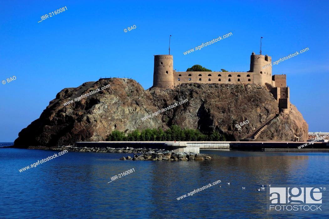 Stock Photo: Fort Jalali, Muscat, Oman, Arabian Peninsula, Middle East, Asia.