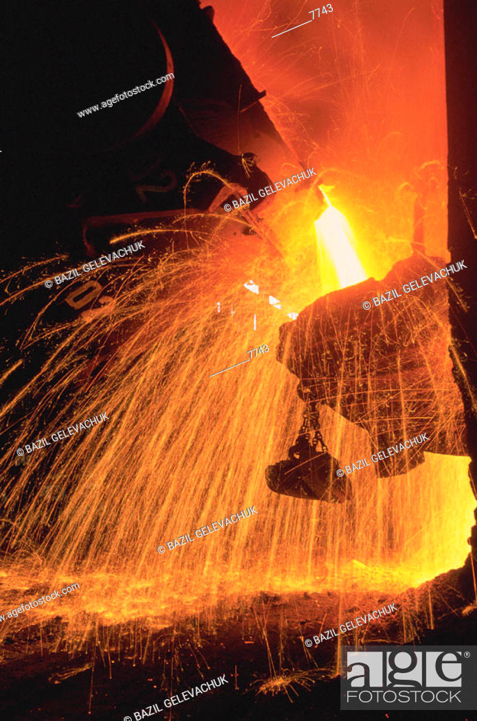 Stock Photo: Metallurgical factory. Krivoy Rog. Ukraine.