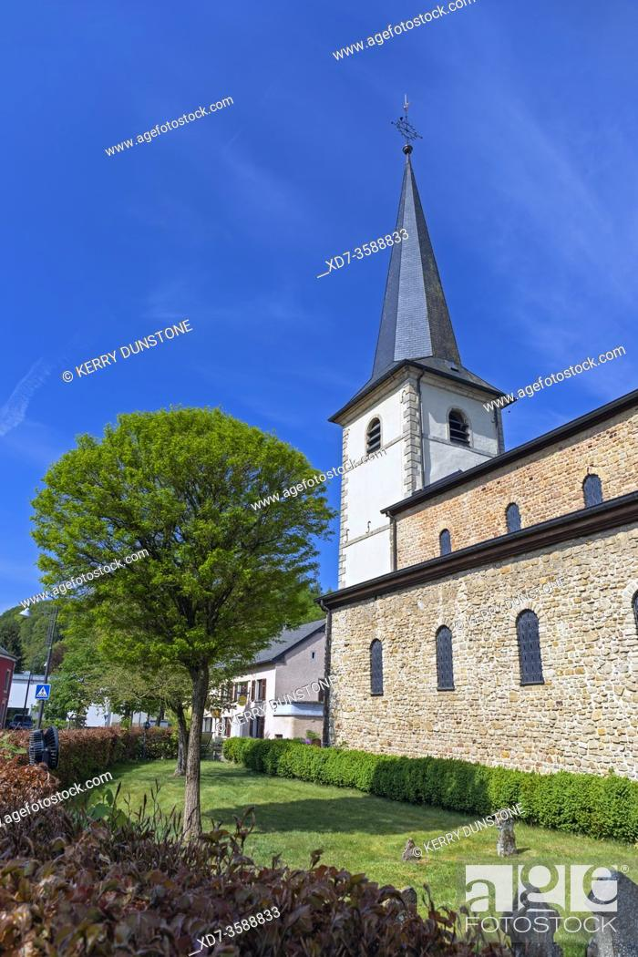 Stock Photo: Europe, Luxembourg, Diekirch, Saeul, Church of the Assumption of the Blessed Virgin Mary.