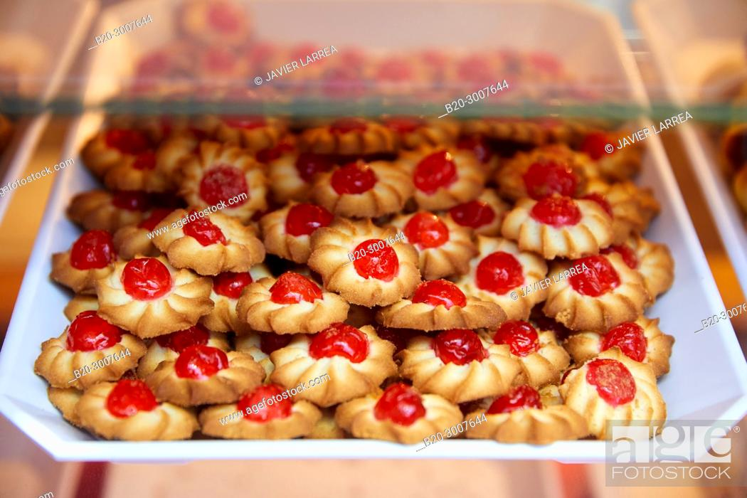 Stock Photo: Tea Pastries, Pastry Shop, Bilbao, Bizkaia, Basque Country, Spain, Europe.