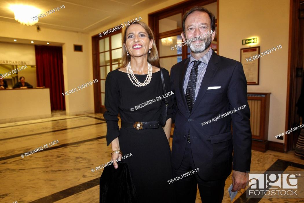 Stock Photo: German Ambassador Viktor Elbling (R) arrives at the Premiere of theatrical performance ' Waiting for the Sibyl ' at Opera Theatre of Rome, ITALY-10-09-2019.