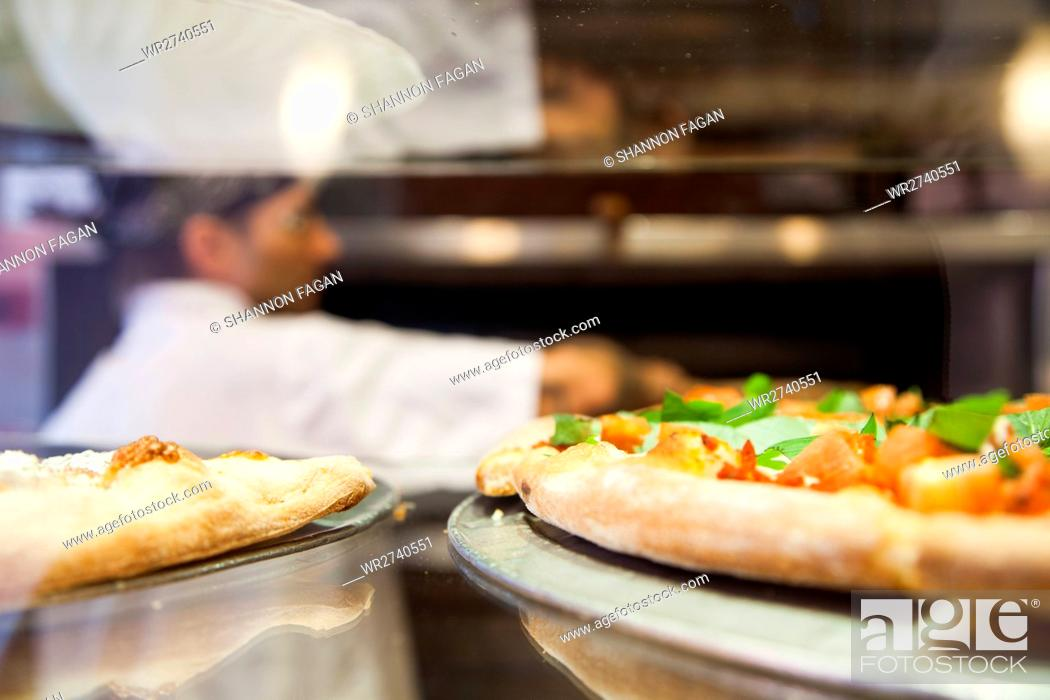 Stock Photo: Pizza place chef.